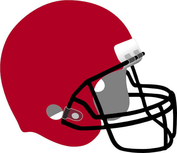 Football homecoming clipart clipart black and white library Crimson Football Helmet Clip Art at Clker.com - vector clip art ... clipart black and white library