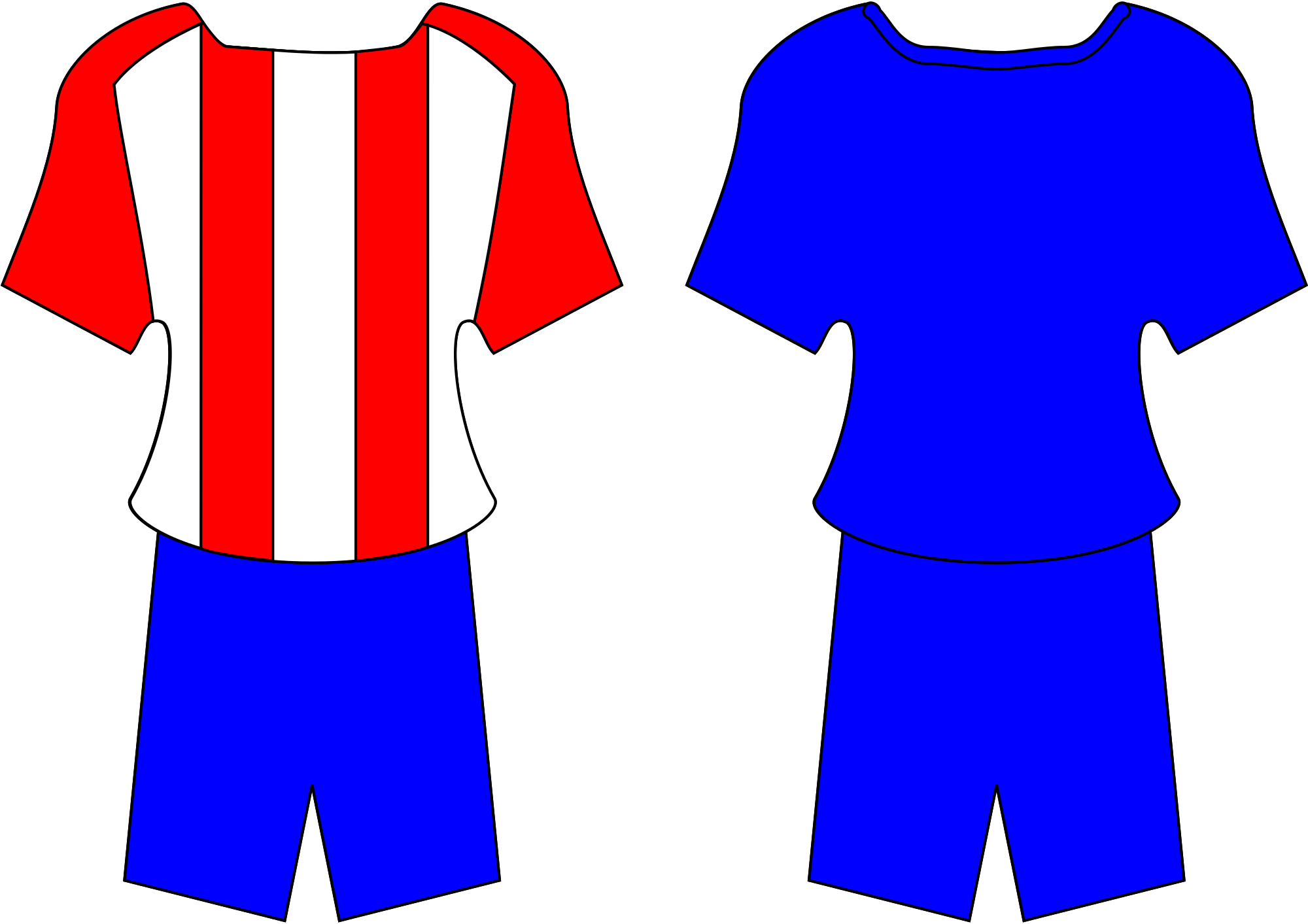 Free football jersey clipart banner stock File:PRY football kit.svg - Wikimedia Commons banner stock