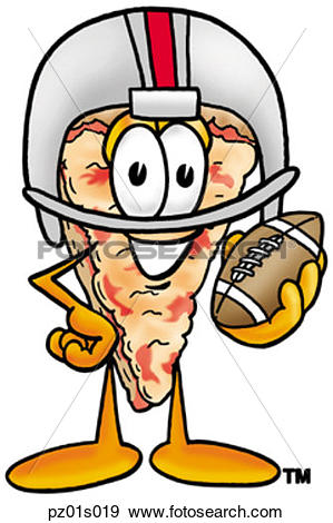 Football jpg clipart vector royalty free download Clip Art of Pizza playing football pz01s019 - Search Clipart ... vector royalty free download