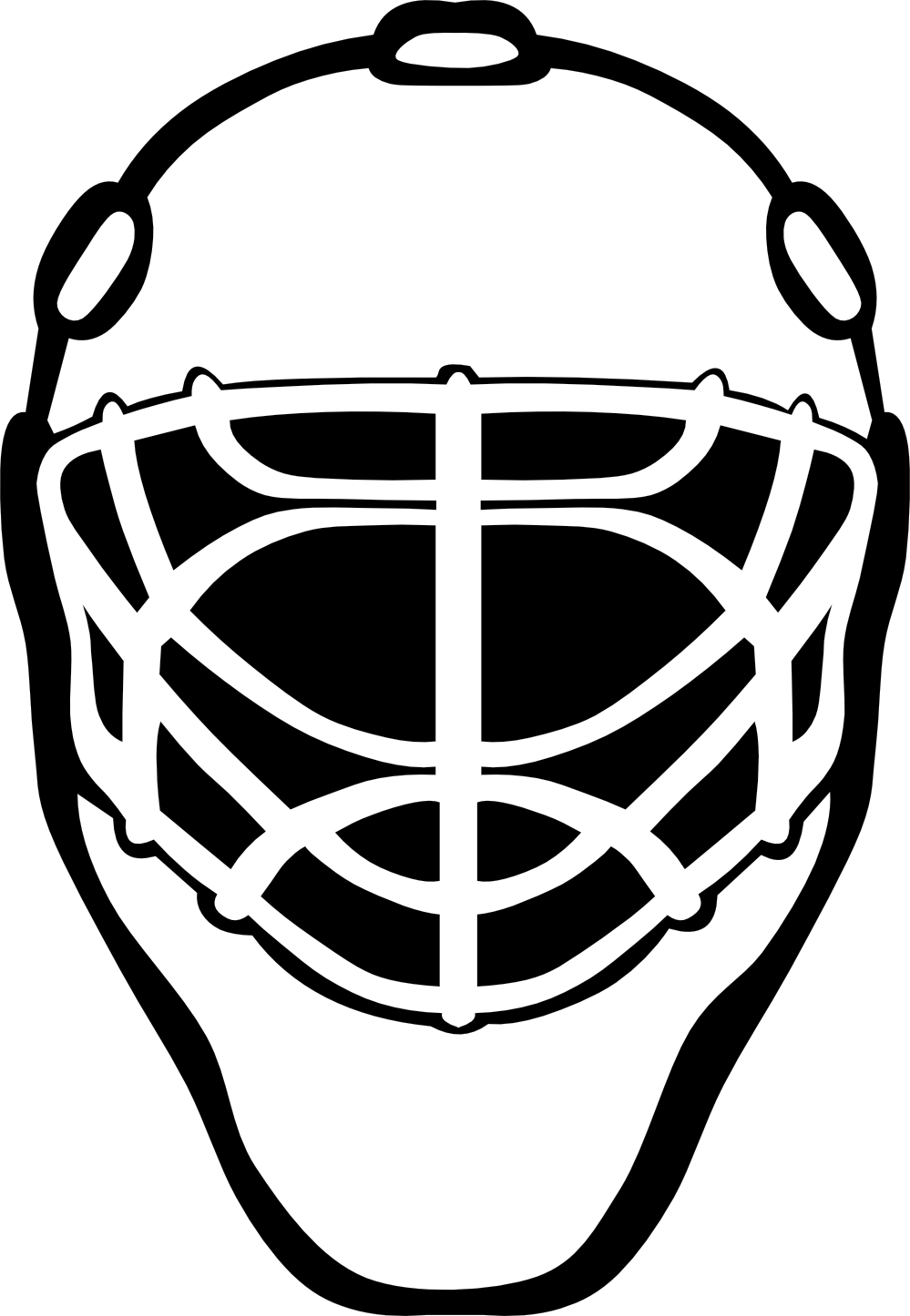 Football lace clipart freeuse library White Hockey Helmet Clipart freeuse library
