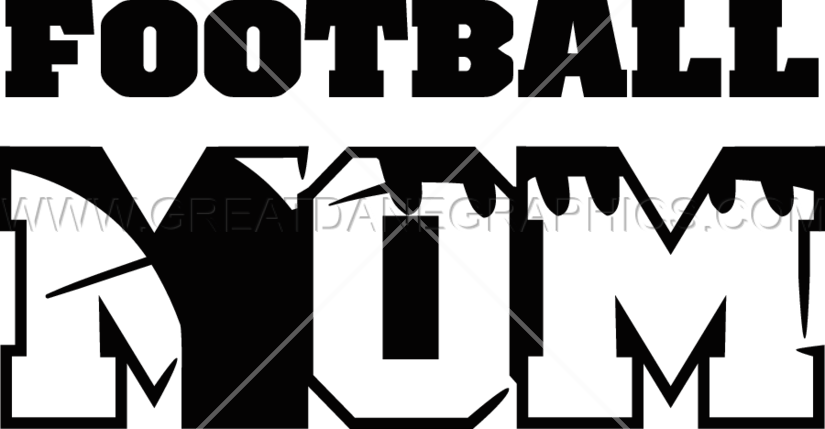 Football mom clipart black and white png library Football Mom | Production Ready Artwork for T-Shirt Printing png library