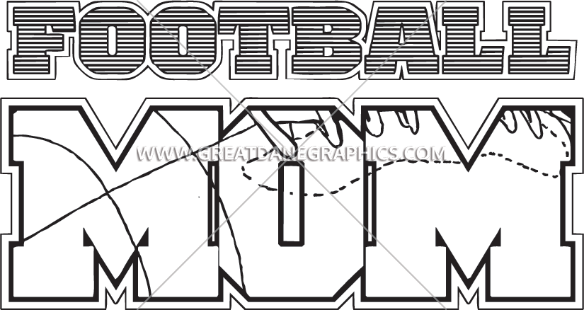 Football mom clipart black and white clipart free library Football Mom | Production Ready Artwork for T-Shirt Printing clipart free library