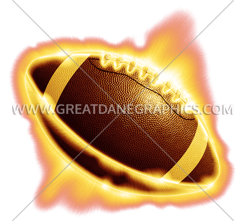 Football on fire clipart banner free stock Collegiate Football Fire   Production Ready Artwork for T-Shirt Printing banner free stock