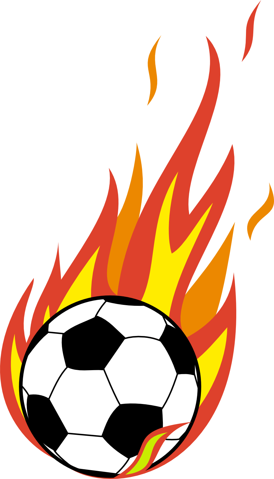 Football on grass clipart banner royalty free library Soccer ball with flames on grass clipart - Hanslodge Cliparts banner royalty free library