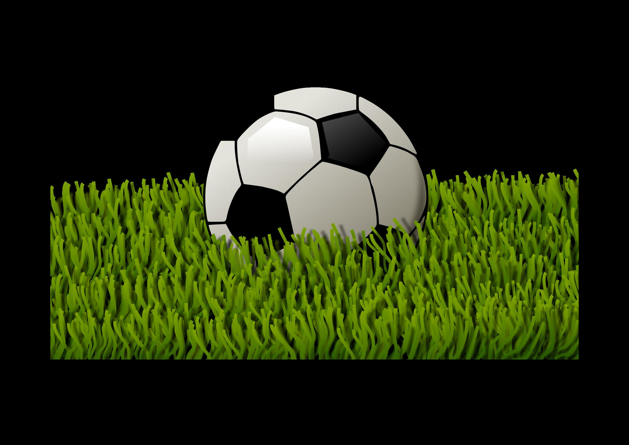 Football on grass clipart svg transparent stock Clipart - Soccer ball on grass 2 svg transparent stock