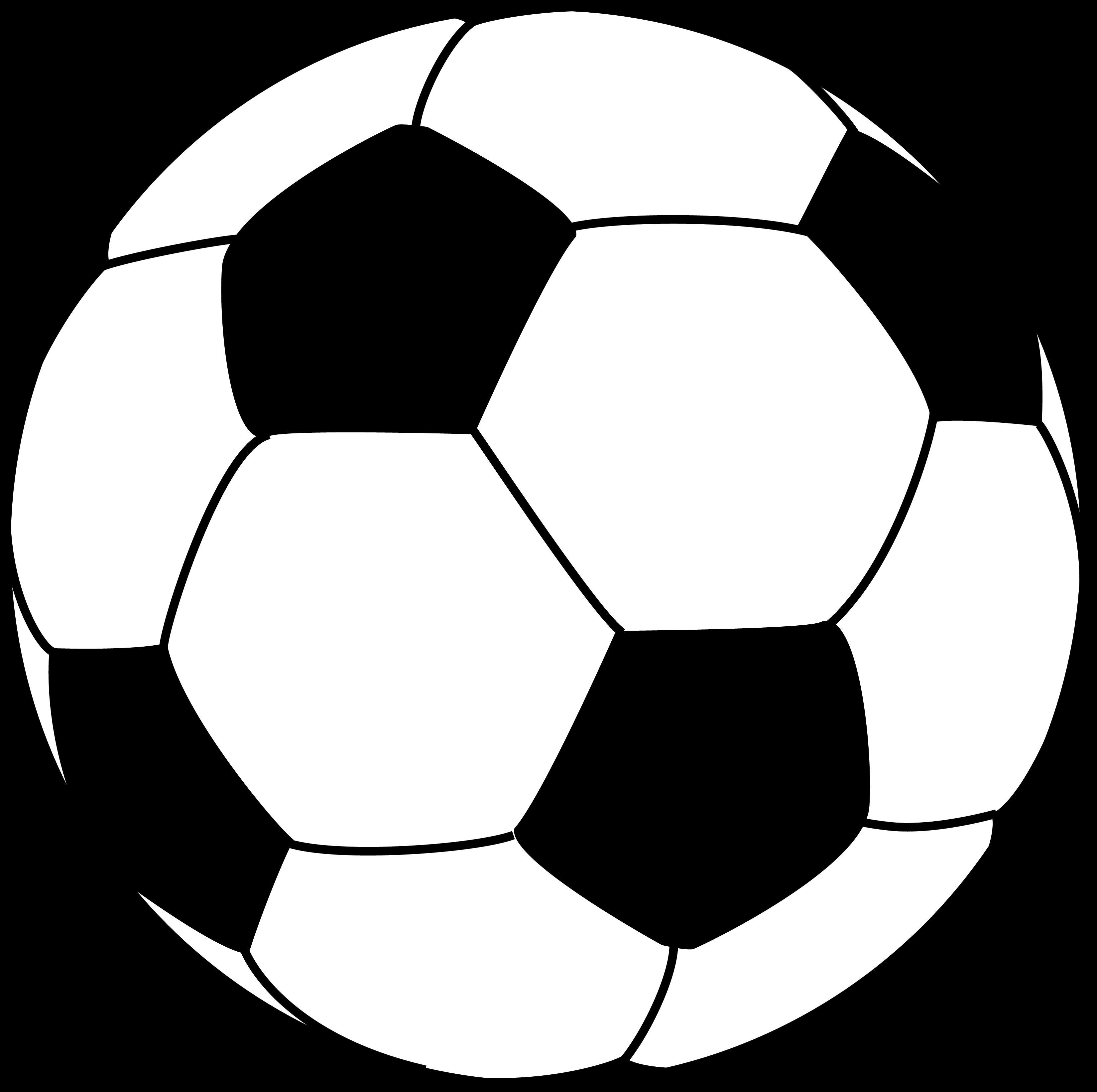 Football outline clipart black and white jpg stock Soccer Ball Outline   Free download best Soccer Ball Outline on ... jpg stock