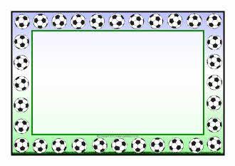 Football page border clipart jpg royalty free Football A4 page borders - SparkleBox   Apák napja   Page borders ... jpg royalty free