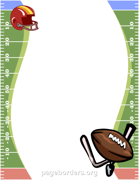 Football page border clipart clip royalty free Football Border: Clip Art, Page Border, and Vector Graphics clip royalty free