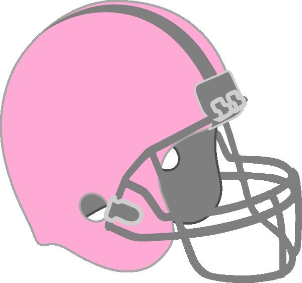 Girl football clipart transparent stock Pink Football Helmet Clip Art at Clker.com - vector clip art online ... transparent stock