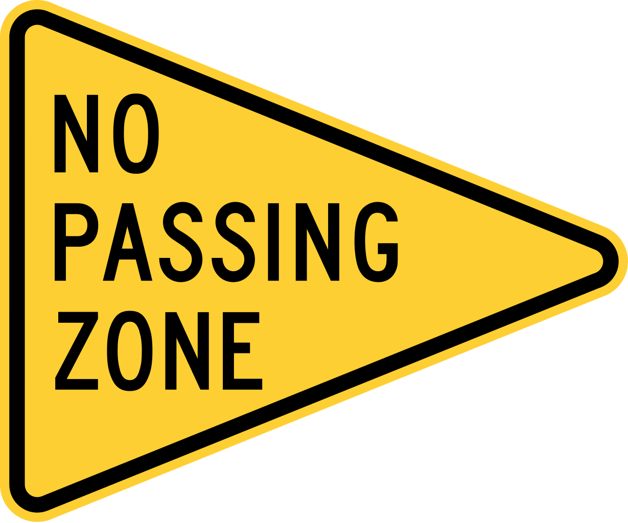 Football pennant clipart banner stock File:MUTCD W14-3.svg - Wikimedia Commons banner stock