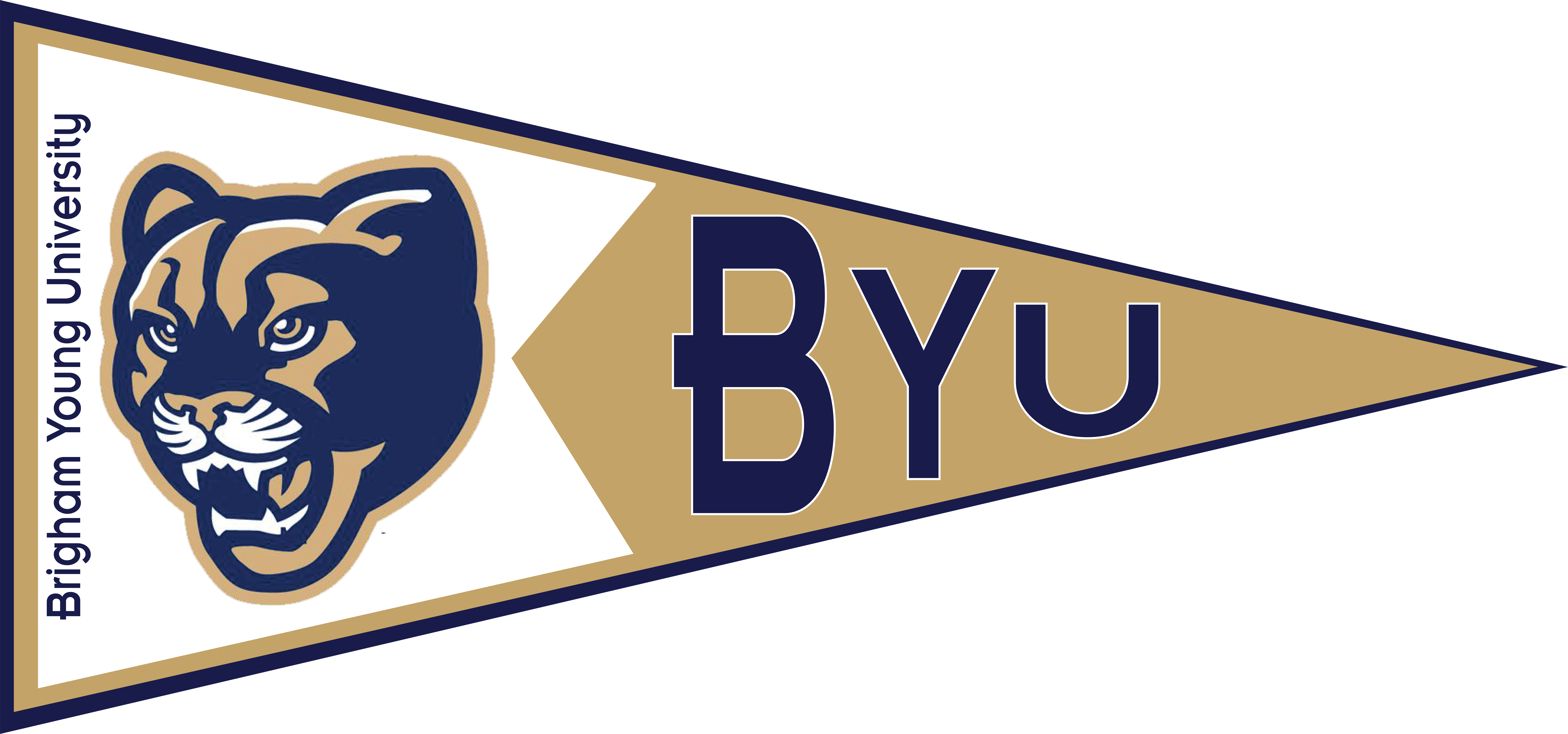 Football pennant clipart graphic freeuse stock Brigham Young University Pennant | GEAR UP graphic freeuse stock