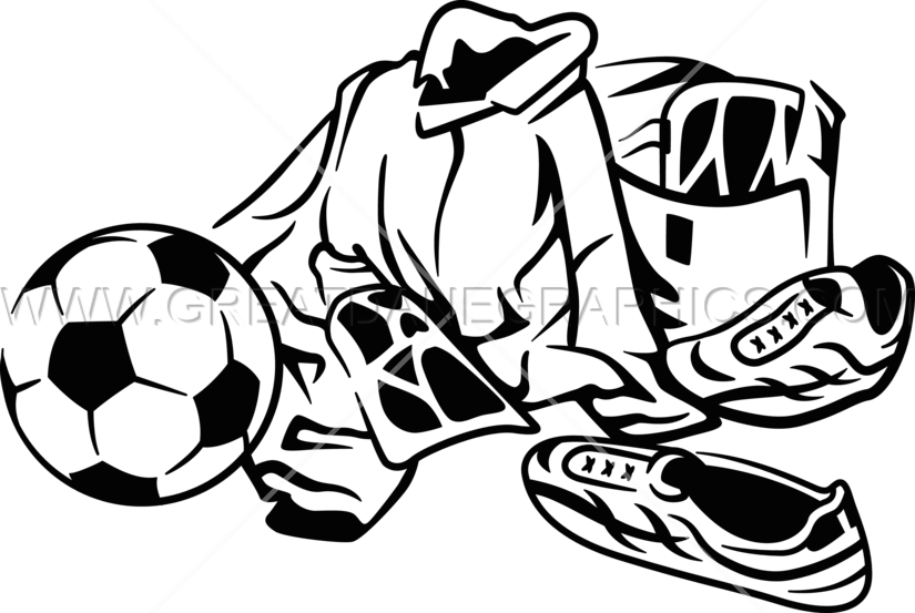 Football picture layout clipart clip art royalty free download Soccer Layout | Production Ready Artwork for T-Shirt Printing clip art royalty free download
