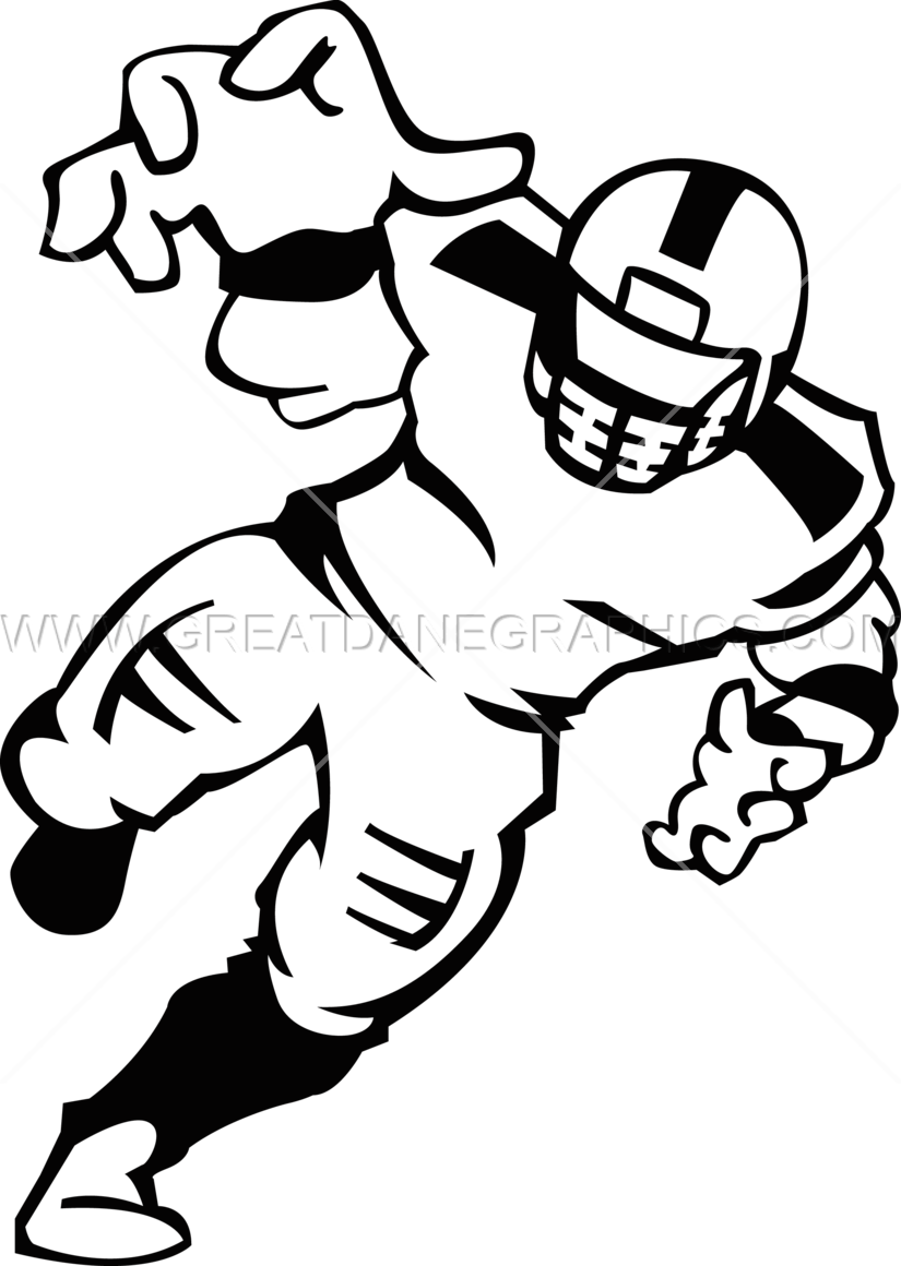 Football player tackle clipart image black and white stock Football Player | Production Ready Artwork for T-Shirt Printing image black and white stock