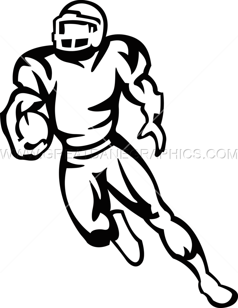 Running football player clipart jpg black and white Football Player Running | Production Ready Artwork for T-Shirt Printing jpg black and white