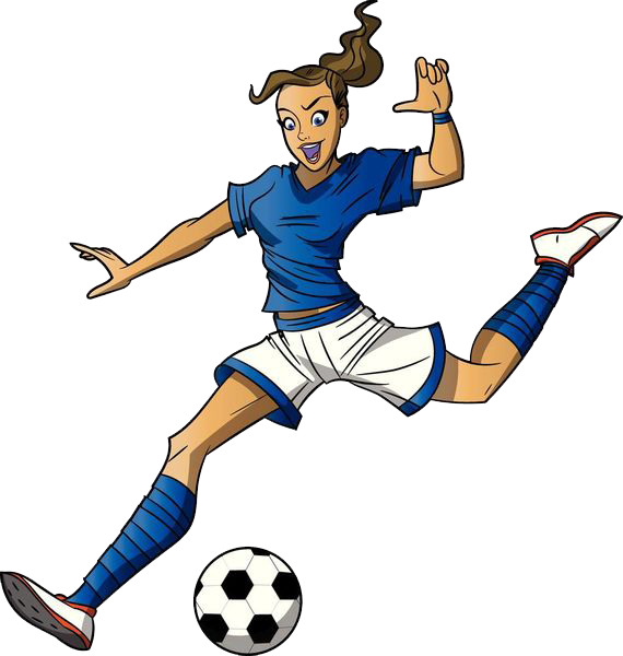 Girl playing football clipart vector stock Football player Cartoon Girl Clip art - Women play 570*600 ... vector stock