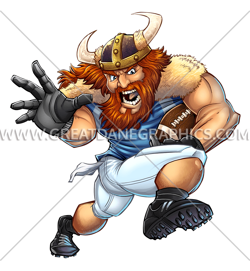 Tackle football player clipart image transparent stock Viking Football Player | Production Ready Artwork for T-Shirt Printing image transparent stock