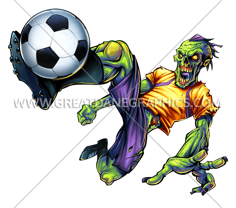 Football player tackling clipart jpg freeuse stock Zombie Soccer Kick | Production Ready Artwork for T-Shirt Printing jpg freeuse stock