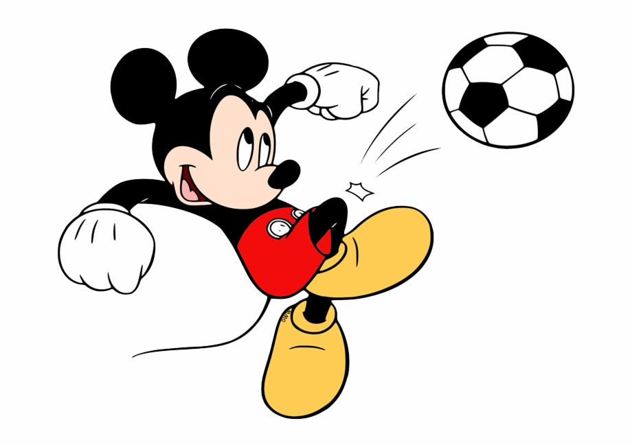 Football player on laptop clipart graphic free stock Mickey Playing Soccer - Cartoon Free PNG Images & Clipart Download ... graphic free stock