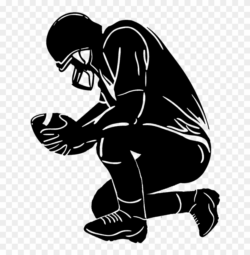 Football player on laptop clipart jpg royalty free download Nfl Football Player Silhouette Png - Player Kneeling Clipart ... jpg royalty free download