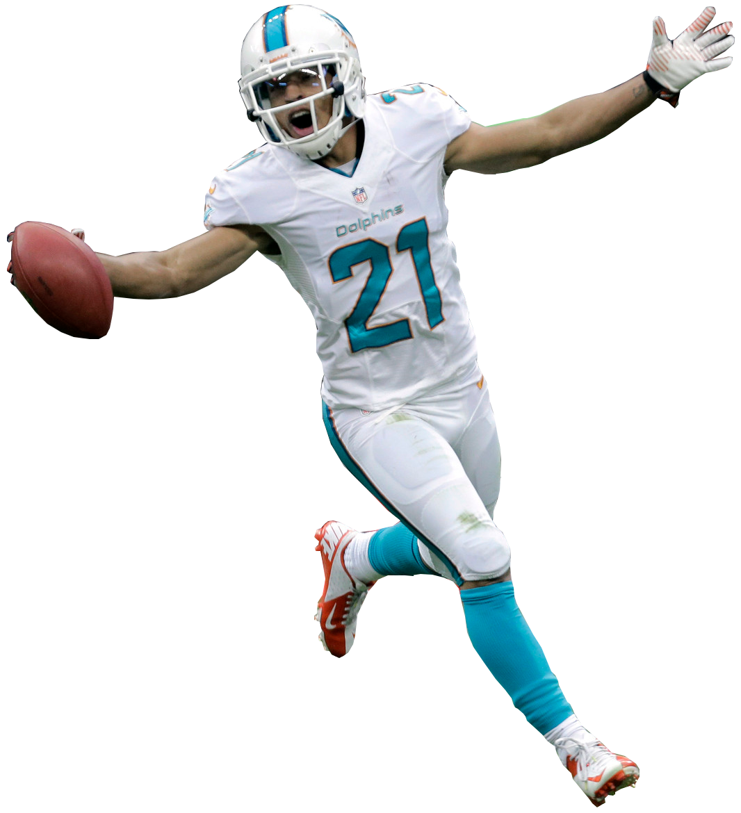 Football player running through defence clipart banner free library BRENT GRIMES CB MIAMI DOLPHINS | MIAMI DOLPHINS | Pinterest banner free library