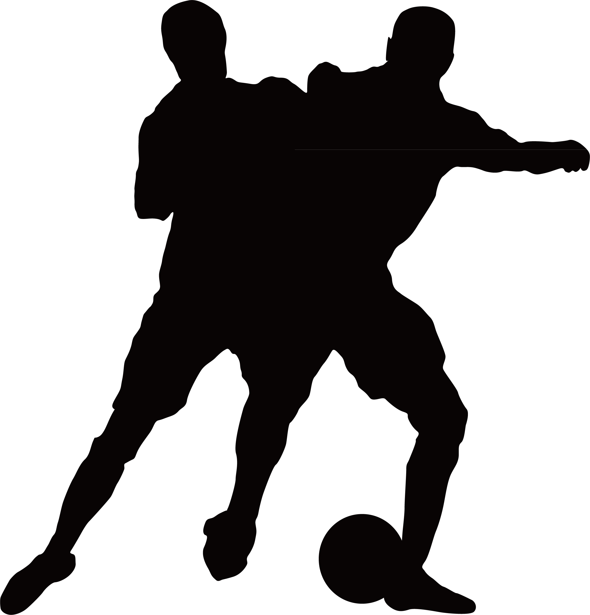 Football player silhouette clipart image Football player Illustration - Penalty child silhouette 2484*2587 ... image