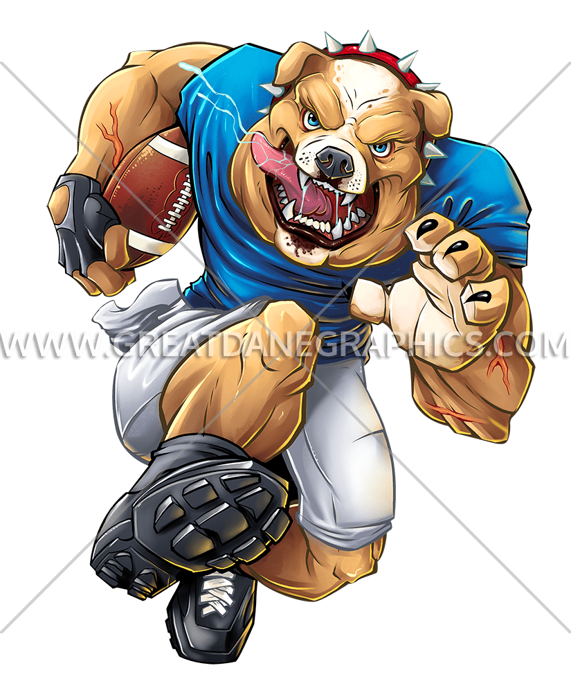 Football player tackle clipart clip download Bulldog Football Charge | Production Ready Artwork for T-Shirt Printing clip download