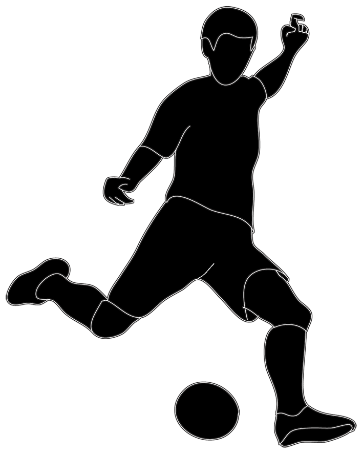 Football players clipart black and white graphic freeuse Different Kinds of Sports Clipart graphic freeuse