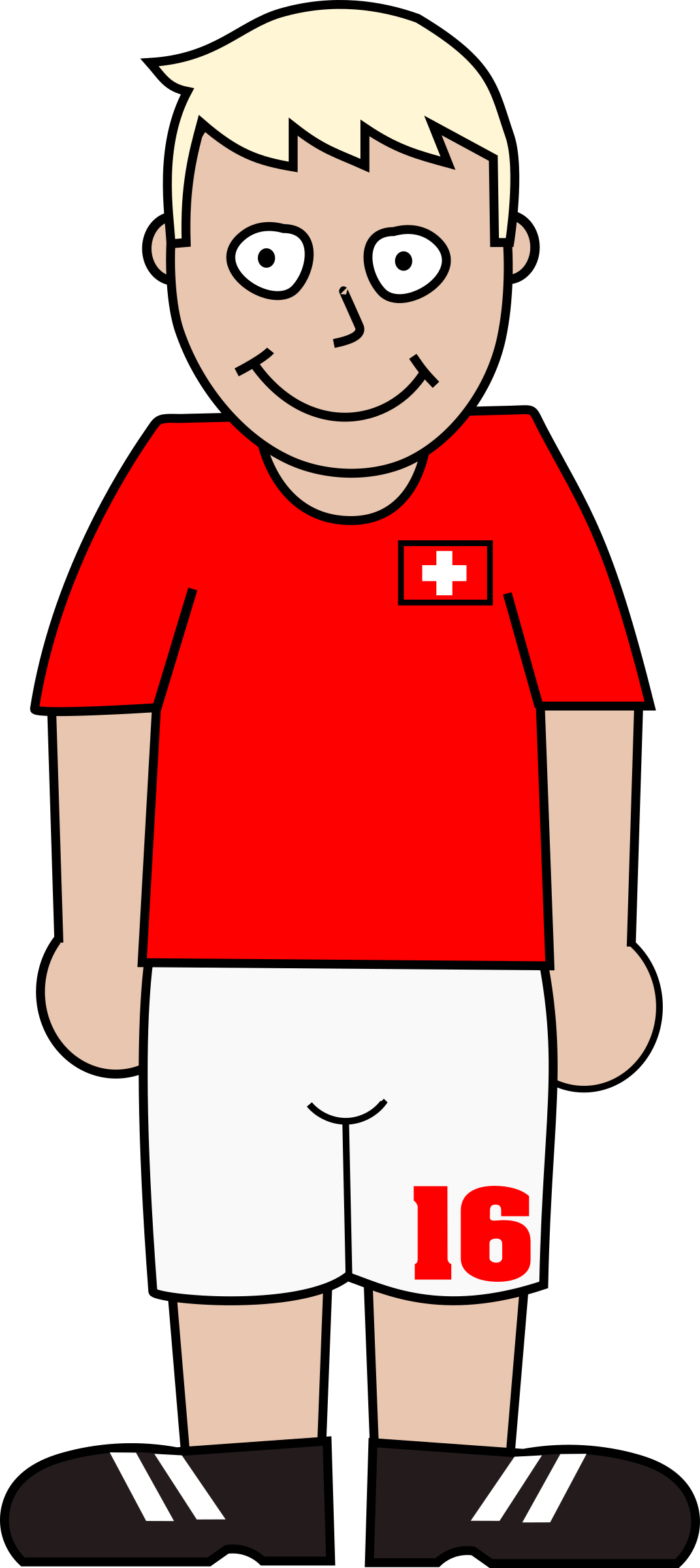 Red football jersey clipart graphic Clipart - Football player switzerland graphic