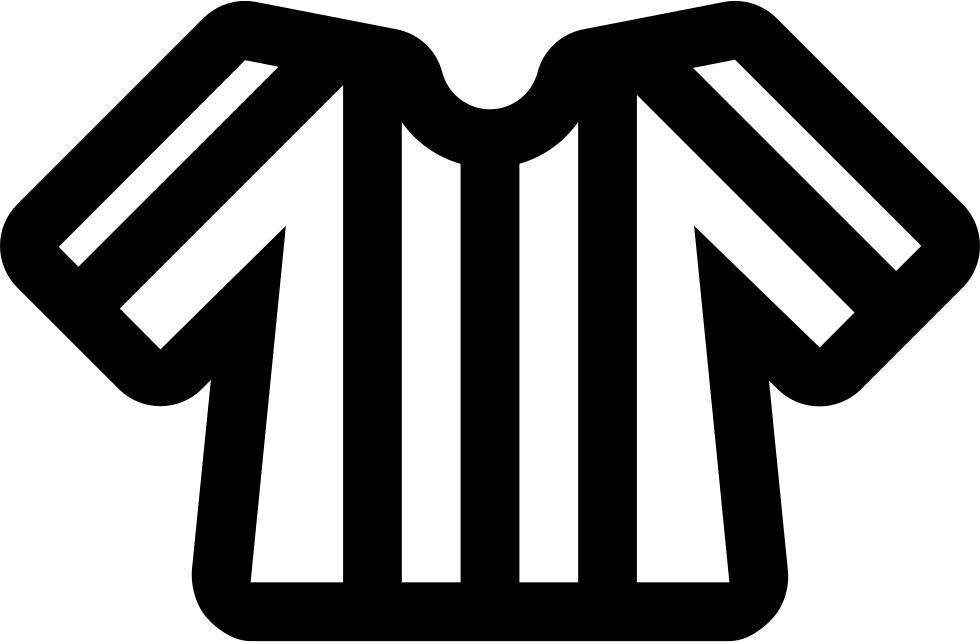 Referee football clipart jpg royalty free library Football Line Referee T-shirt With Stripes Svg Png Icon Free ... jpg royalty free library