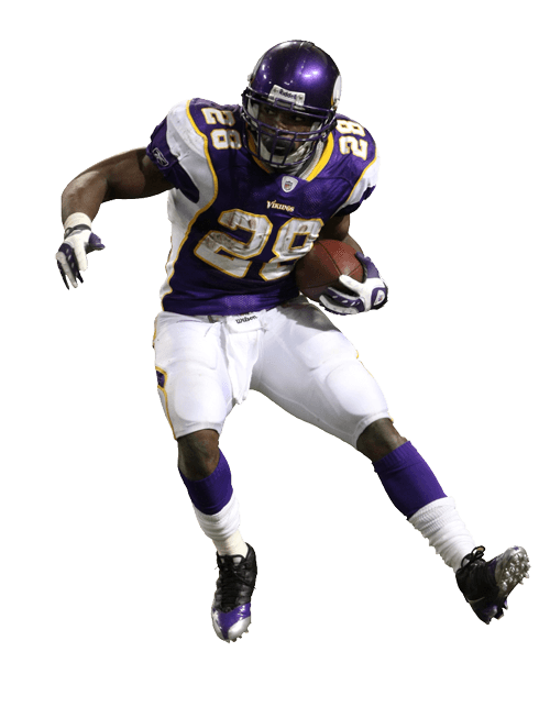 Minnesota vikings football clipart jpg black and white Adrian Peterson Running transparent PNG - StickPNG jpg black and white