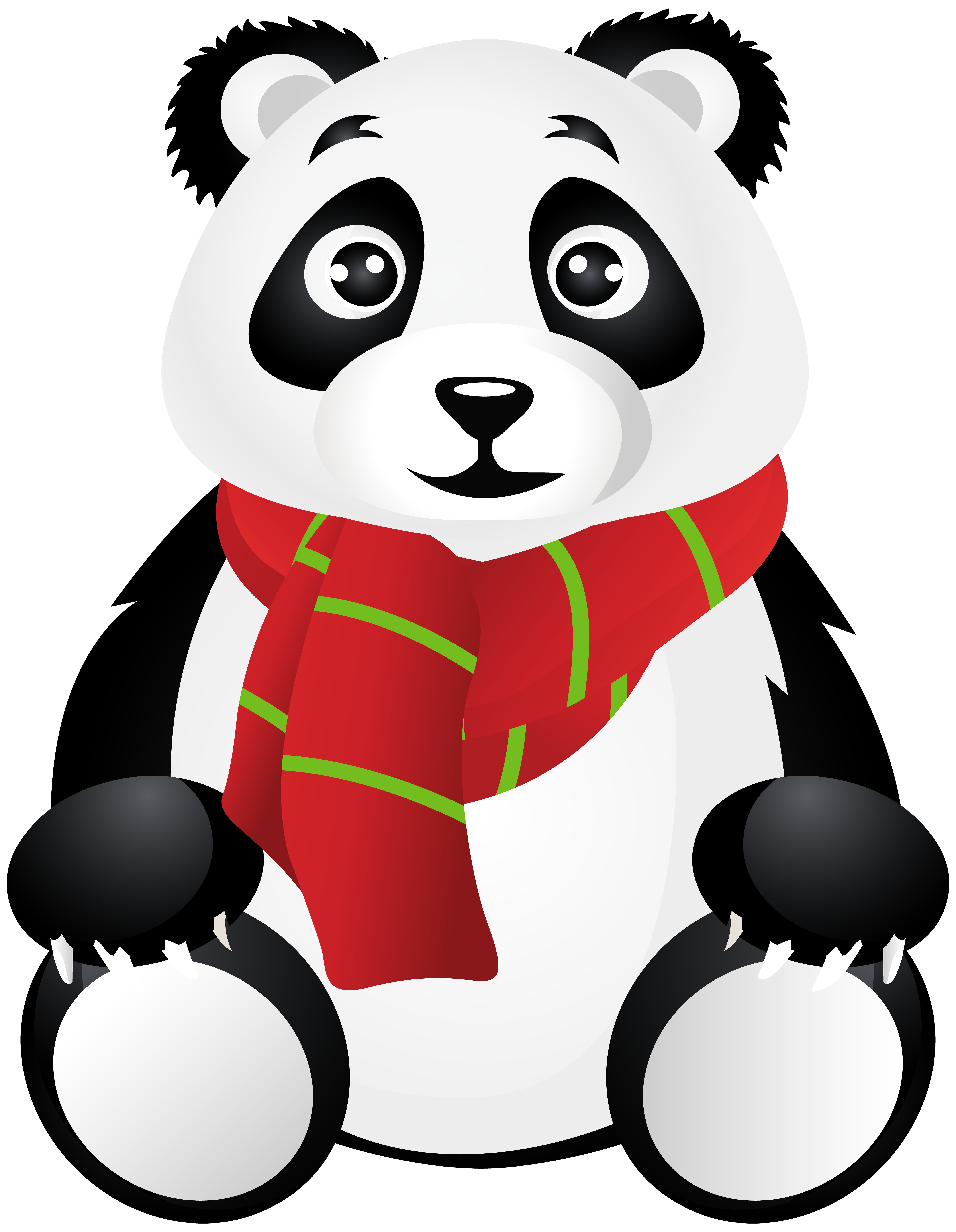Panda bear halloween clipart graphic Panda with Scarf Transparent Clip Art | Gallery Yopriceville - High ... graphic