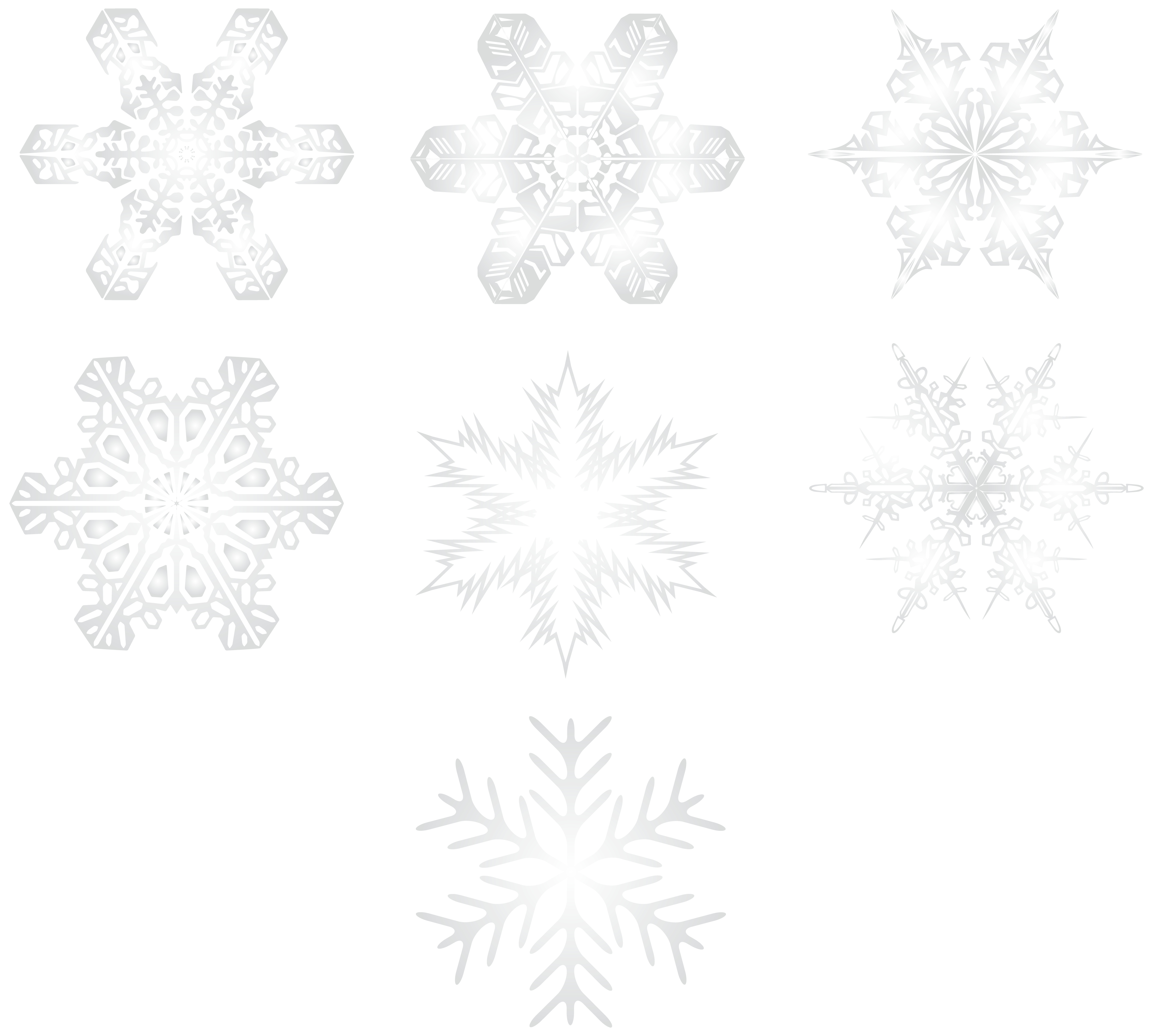 Rose gold snowflake clipart freeuse download Snowflakes Transparent PNG Image | Gallery Yopriceville - High ... freeuse download