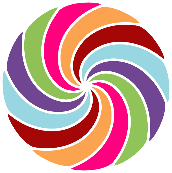 Football spiral clipart png download Pinwheel Multi Colored Clip Art at Clker.com - vector clip art ... png download