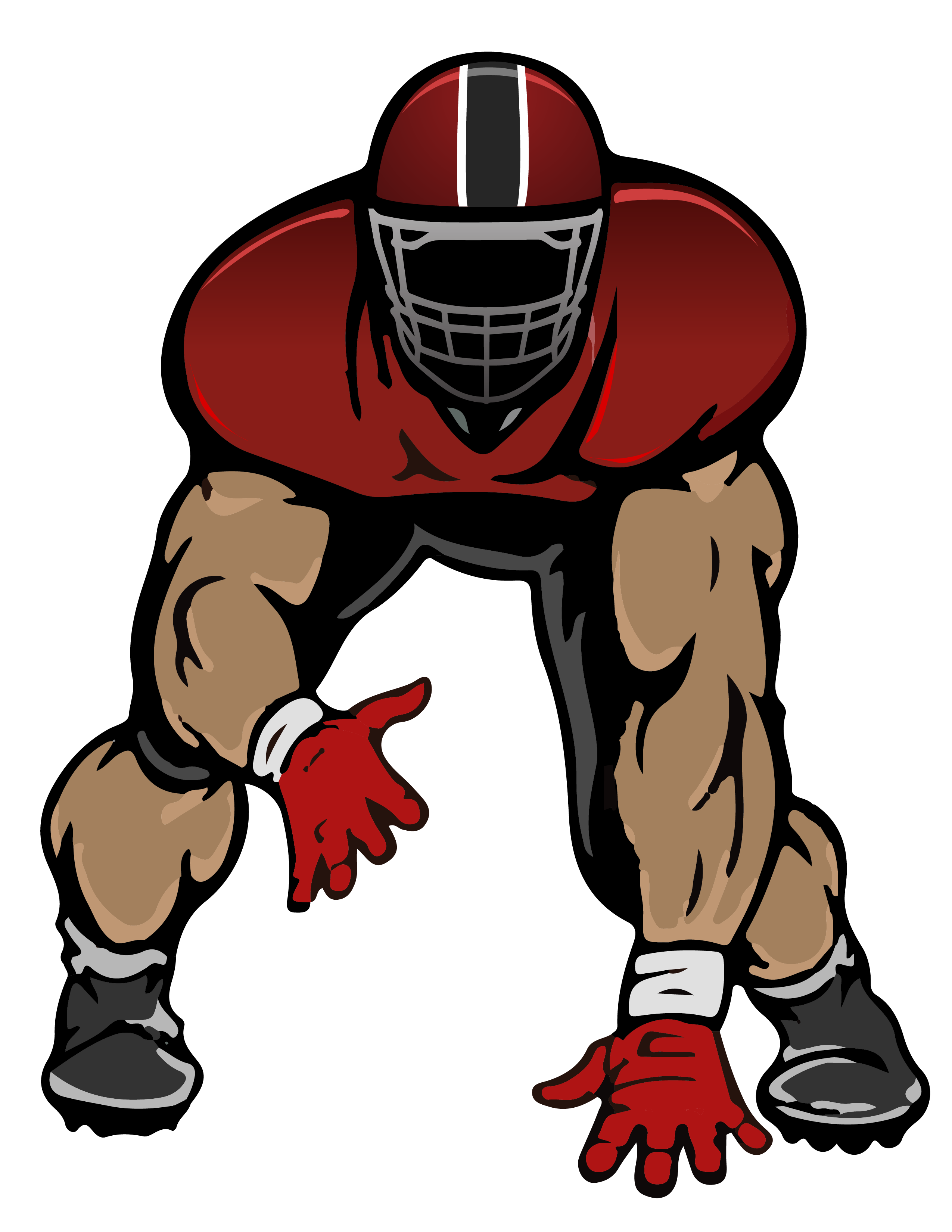 Football stance clipart clip art free stock NFL Three-point stance American football College football - cam ... clip art free stock
