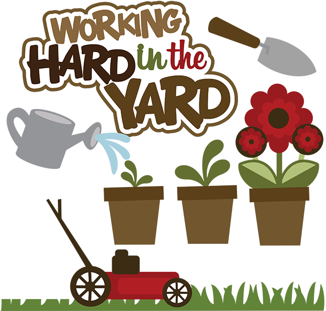 Football svg mom clipart clipart stock Working Hard In The Yard SVG lawn mower svg file yard work scrapook ... clipart stock