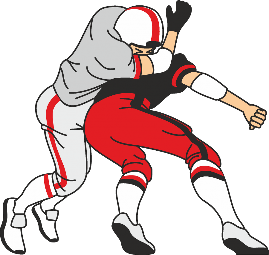 Tackle football clipart clip free stock American Football Tackle | Custom T-Shirt Designs from Wasson T-Shirts clip free stock