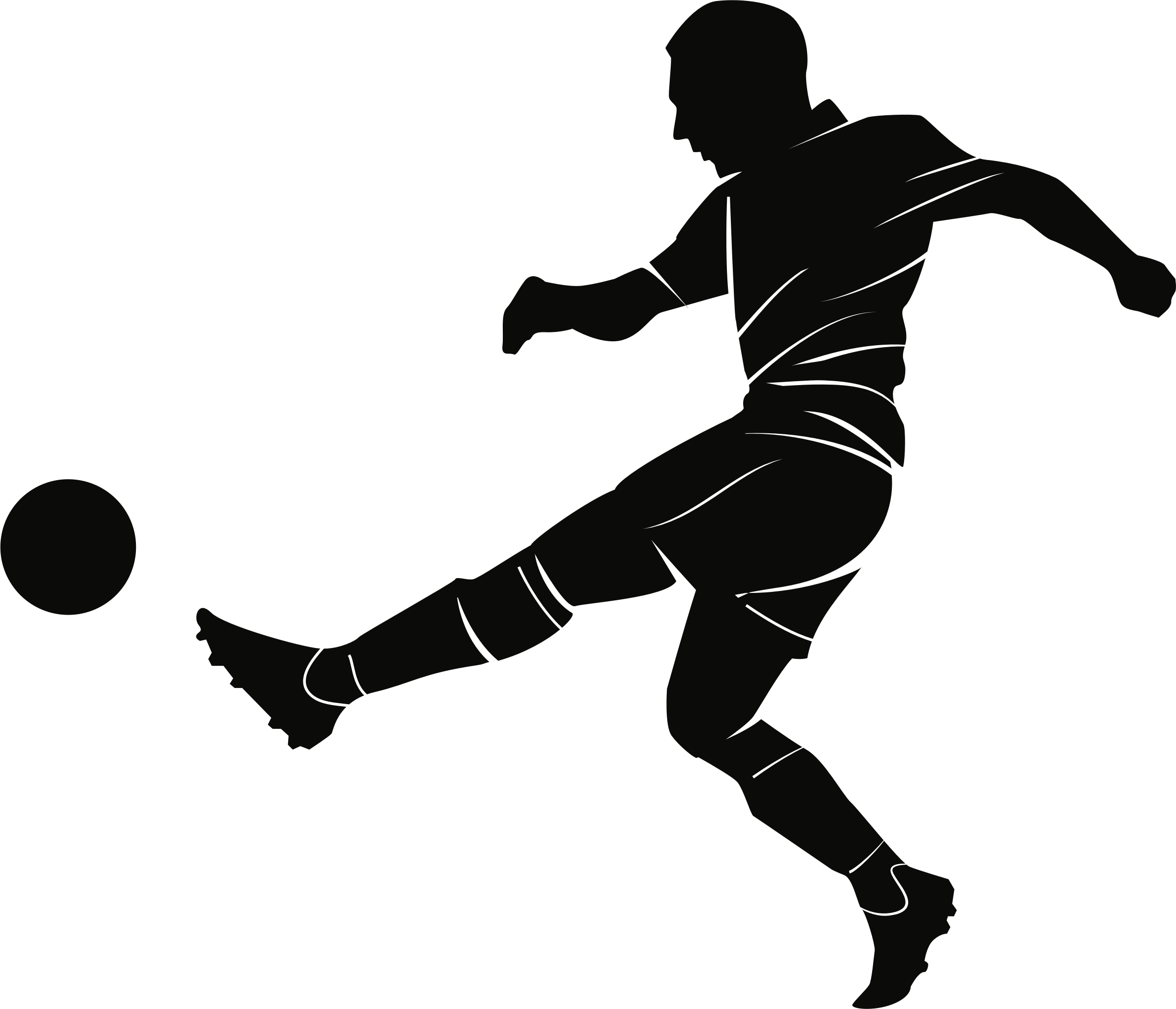 Football thread black and white clipart vector clip art library download Clip art Vector graphics Football player Openclipart - soccer png ... clip art library download