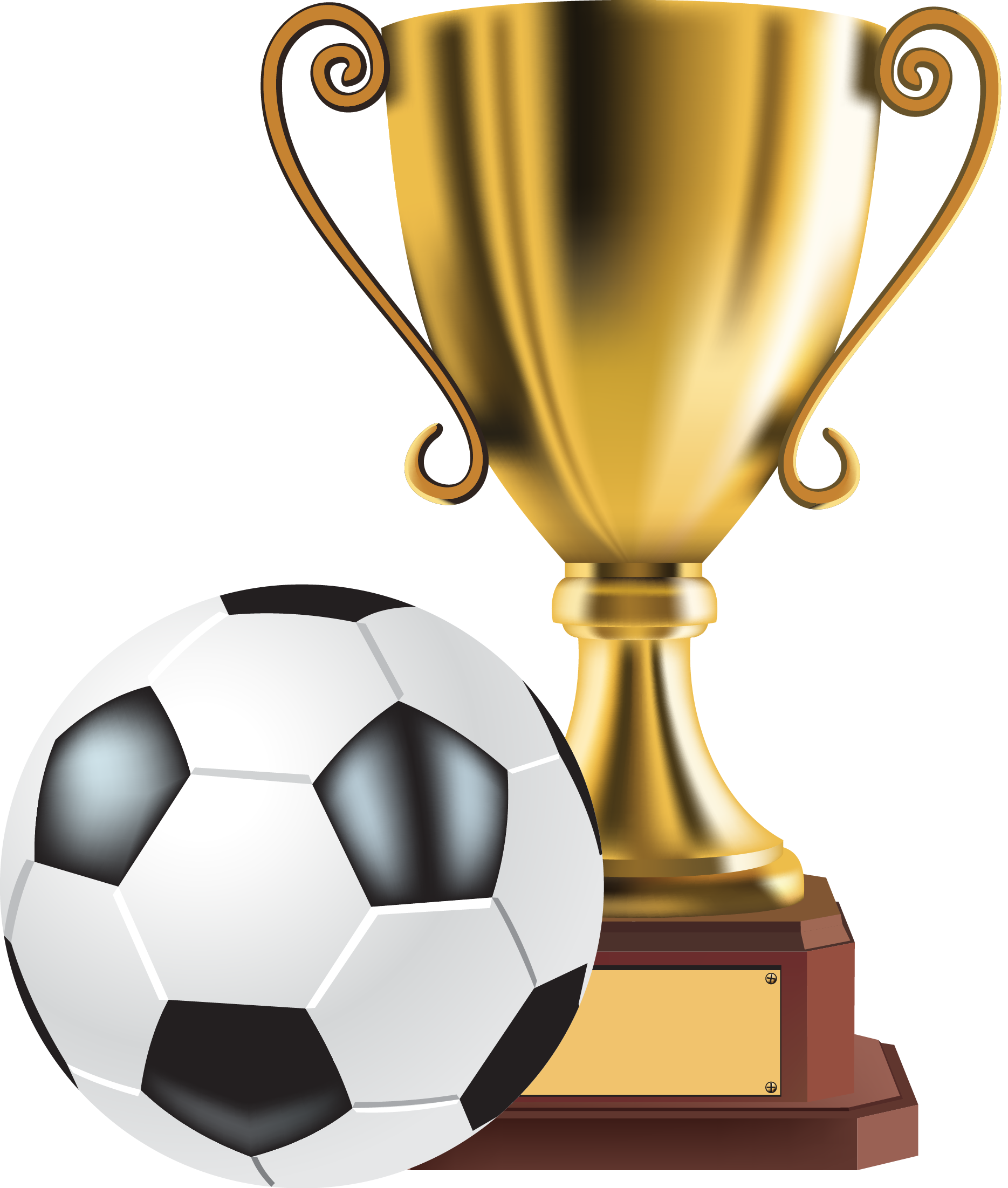 Football trophies clipart clip transparent download Trophy Gold medal Clip art - Soccer Trophy 1869*2203 transprent Png ... clip transparent download