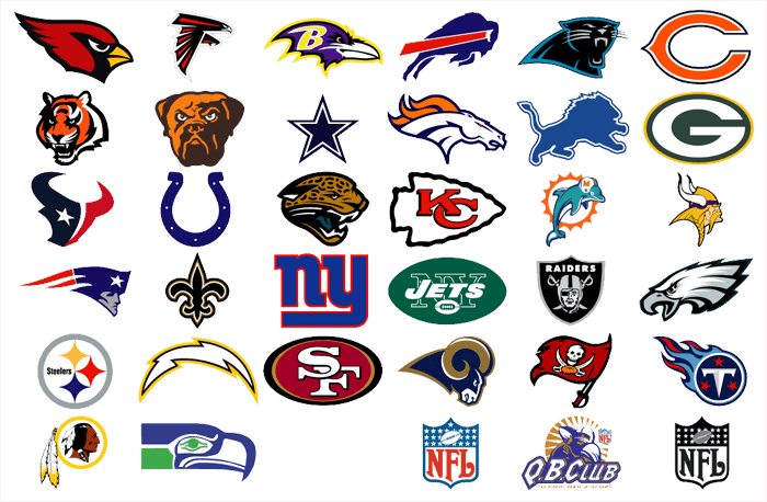 Football with all nfl teams clipart image royalty free library Top 5 NFL Team Logos and Why image royalty free library