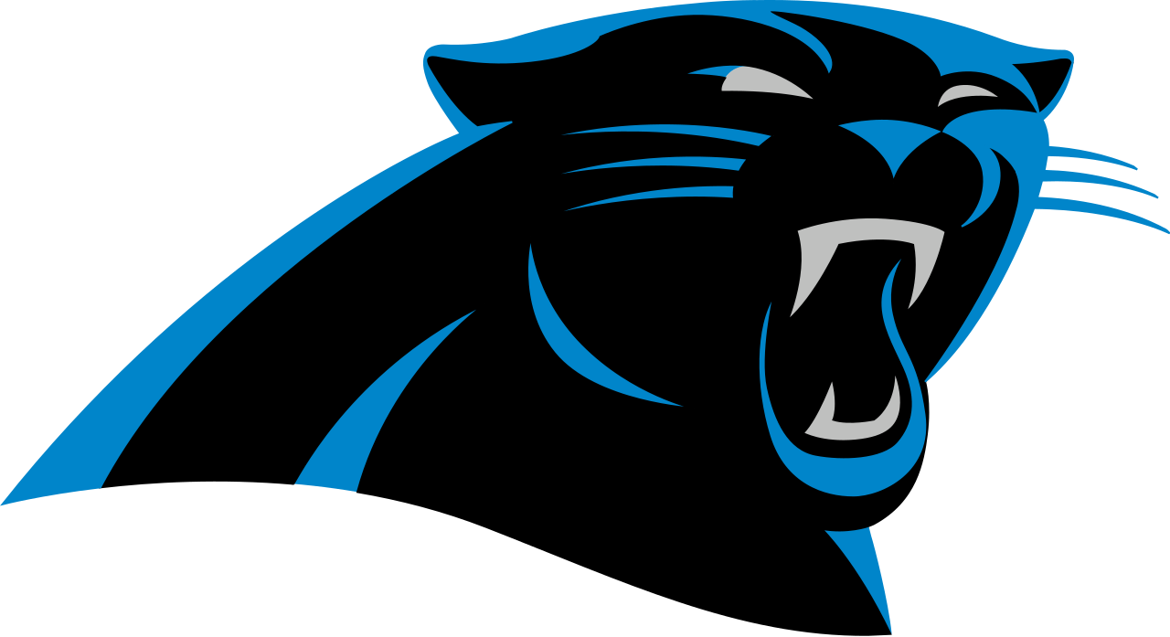 Football with all nfl teams clipart vector transparent download Pro Football Journal: Carolina Panthers All Career-Year Team vector transparent download