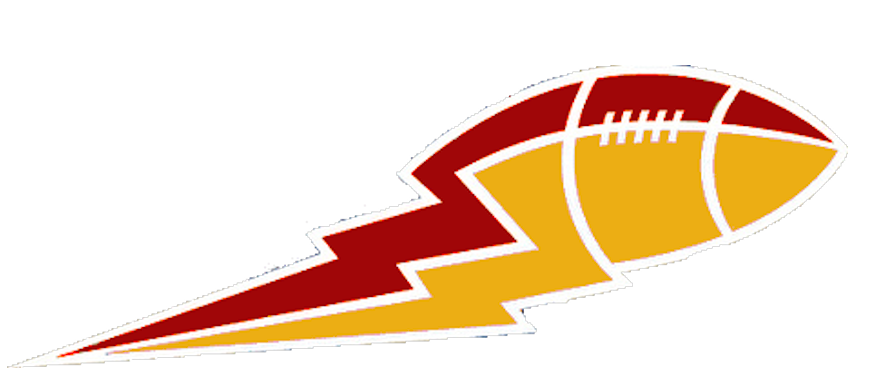 Lightning bolt football clipart