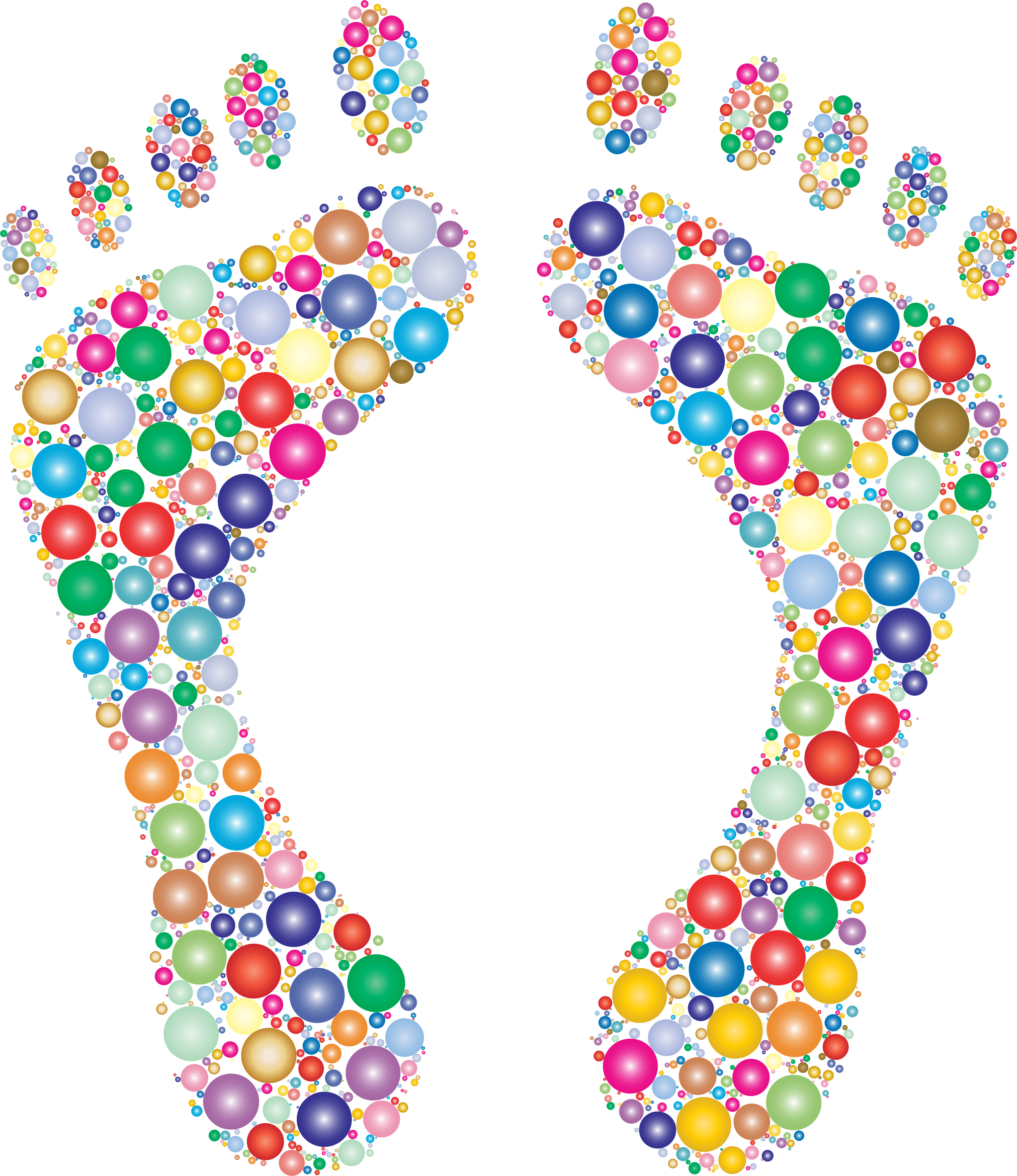 Footprint heart clipart picture freeuse download Clipart - Footprints Silhouette Circles Prismatic 2 picture freeuse download