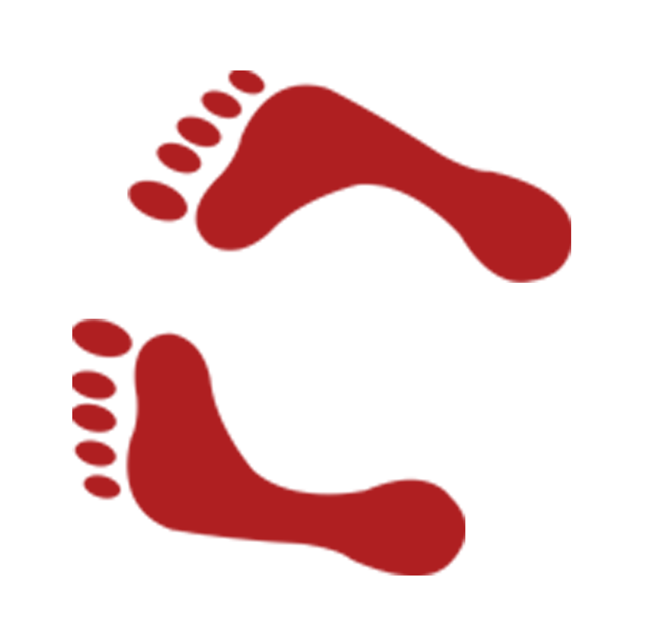 Footprint heart clipart banner freeuse library Red Footprint - Red footprints 2184*2023 transprent Png Free ... banner freeuse library
