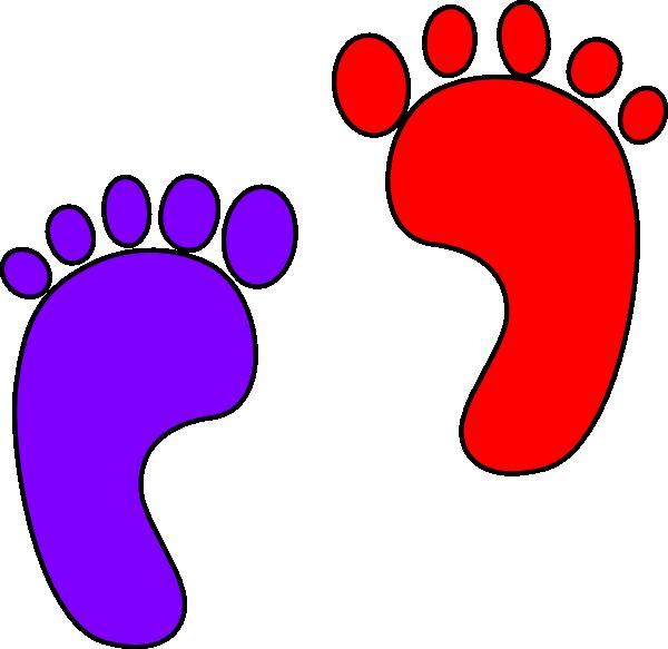 Footprint heart clipart clipart transparent download Footprints Clip Art at Clker.com - vector clip art online, royalty ... clipart transparent download