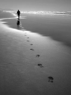Footprints in the sand clipart black and white.  best images thoughts