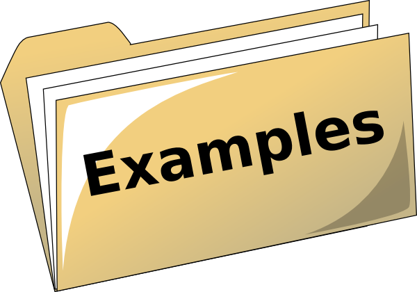 Examples group with items. For example clipart