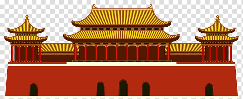 Forbidden city clipart picture download Tiananmen Square Cartoon, Forbidden City house transparent ... picture download