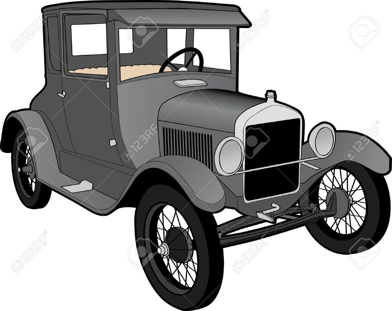 T portal . Ford model a clipart