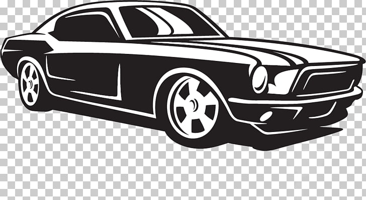 Ford mustang clipart black and white graphic royalty free stock Compact car Ford Mustang Classic car, car PNG clipart | free ... graphic royalty free stock