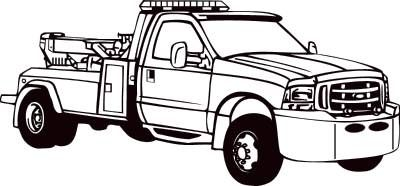 Ford on tow truck clipart black and white vector transparent Tow clipart wrecker truck - 172 transparent clip arts, images and ... vector transparent